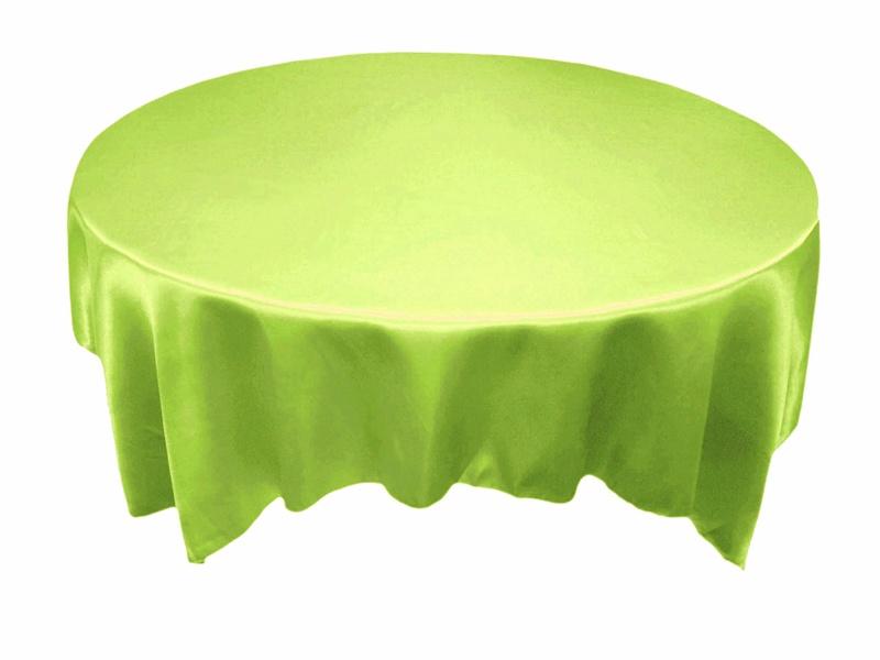 Round Table Overlays.90 Satin Table Overlays Apple